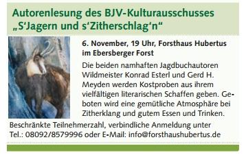 Lesung von Gerd H. Meyden und Konrad Esterl