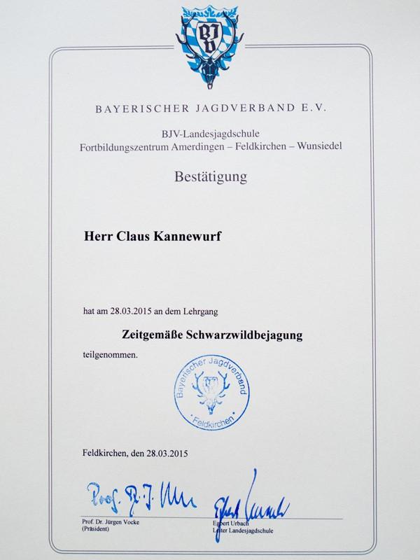 BJV Seminar – zeitgemäße Schwarzwildbejagung
