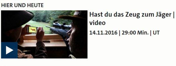 TV Doku – Hast Du das Zeug zum Jäger?