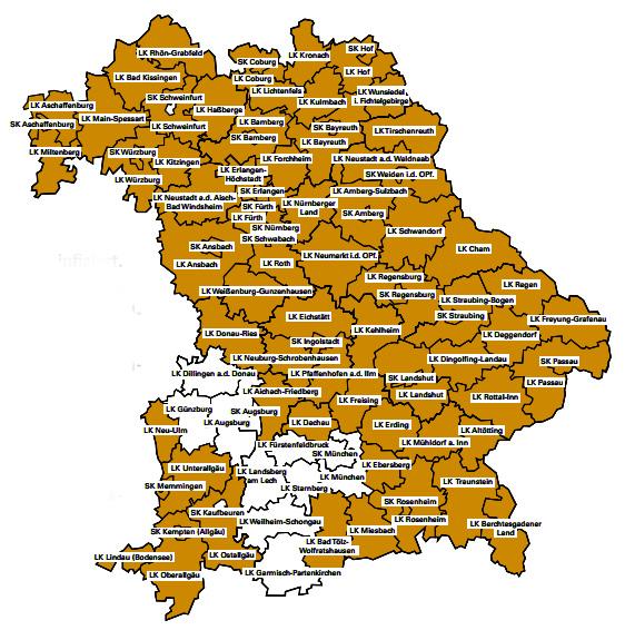 Zecken Risikogebiete in Bayern