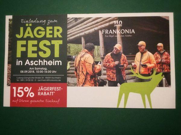 Frankonia Jägerfest 2018